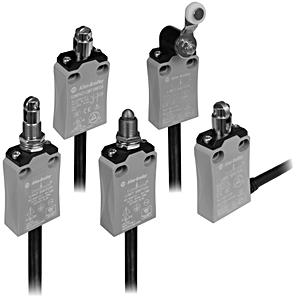 Allen-Bradley 440P-ASLS11C Limit Switch, Safety, Lever, Non-Panel Mount, 2m Cable
