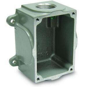 "Meltric MB334 Metal Mounting Box, 3/4"" , DSN30 Series"