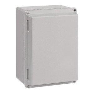 "nVent Hoffman A14107JFGR Junction Box, NEMA 4X, Hinged Cover, 14"" x 10"" x 7"""