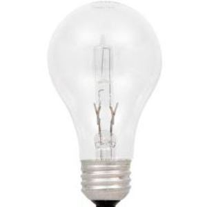 SYLVANIA 53A/HAL/CL/2-120V Halogen Bulb, A19, 53W, 120V, Clear
