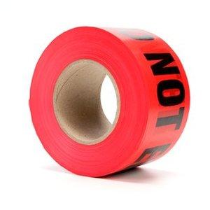"""3M 362 Barricade Tape, Danger Do Not Enter, Red, 3""""x1000'"""