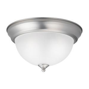 Kichler 8111NI 2 Light Flush Mount Ceiling Light, 60W, 120V, Brushed Nickel