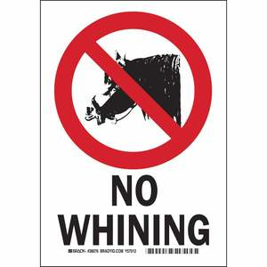 38076 NO WHINING...