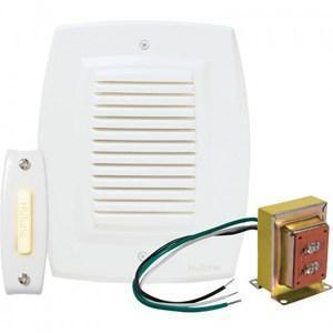 Nutone BK147LWH Wired Chime Kit, White, 1-Pushbutton