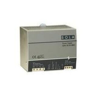 Sola Hevi-Duty SDN20-24-480CD Power Supply, 20A, 3PH, 380-480VAC, 24VDC, 42W, DIN Rail Mount