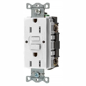 Hubbell-Bryant GFRST15W GFCI Receptacle, 15A, 125V AC, White