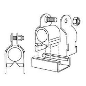 Superstrut P716-3/8 SS P716-3/8 CUSH PIPE CLAMP
