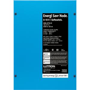 Lutron QSN-4T16-S Energi Savr Node with 16A, 0-10V dimming, 120-277V