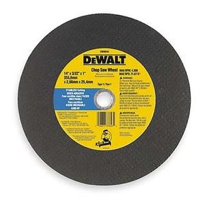 DEWALT DW8016 14 X 7/64 X 1IN A30S STAINLESS STEEL CUTTING WHEEL