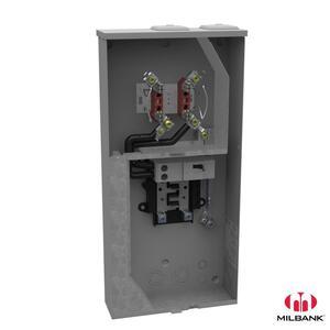 Milbank U5168-XTL-200-KK-PL Meter Main, 200A, 240VAC, 4 Jaw, 8/16, Horn Bypass, OH/UG Service