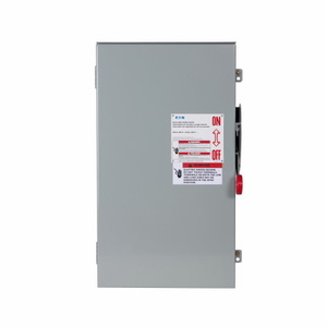 Eaton DH164NRK Safety Switch, 200A, 1P, 600VDC, HD, Fusible, NEMA 3R