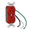 5262-LR RED RECPT DPLX 12GA 6' LEADS