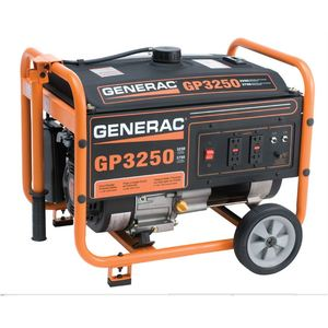 Generac 5982 Generator, 3,250 Watt, Portable, Manuel Start, Gasoline