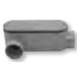 "Bizline 250LR Conduit Body, Type LR, Size 2-1/2"", Cover/Gasket, PVC"