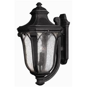 Hinkley Lighting 1319MB Lantern, Outdoor, 3 Light, 40W, Museum Black