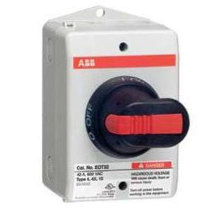 ABB EOT32U3P4-P Non-Fused Disconnect, 40 Amp, 3-Pole