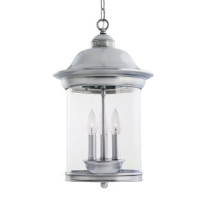 Sea Gull 60081-965 3-Light Outdoor Pendant, 40W, 120V, Antique Brushed Nickel