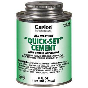 Carlon VC9984 QUICK SET CEMENT - 1/2 PINT 31350