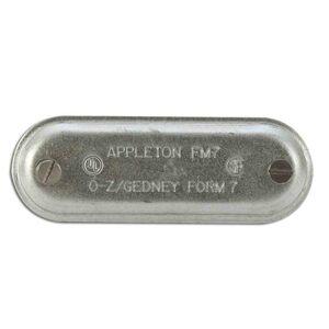 "Appleton 270 Conduit Body Cover, 3/4"", Form 7, Steel"