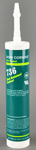 Dow Corning 2086433 Heat Resistant Sealant, Non-Slump Paste, Red, 300 ML Cartridge