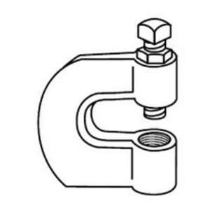 """Superstrut M775L-3/8-B Beam Clamp, 1-3/4"""" Wide, Type: C-Clamp, Rod Size: 3/8"""", Malleable"""