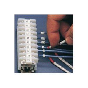 Brady SCN09-O-CAP Clip Sleeve & Wire Markers - Legend: O