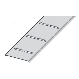 "Eaton B-Line 817A-24-144 Cable Tray Cover, Ventilated, Flanged, Aluminum, 24"" Wide, 12' Long"