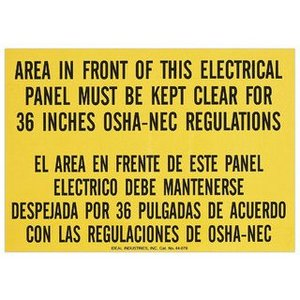 Ideal 44-878 Safety Sign,Ideal,Self-Sticking,Lockout,Polyester,SZ: 7.000 X 10.000 IN