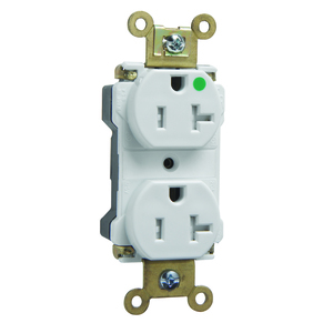 Pass & Seymour PTTR63-HW TAMPER RESISTANT HG EHD 20A/125V WH