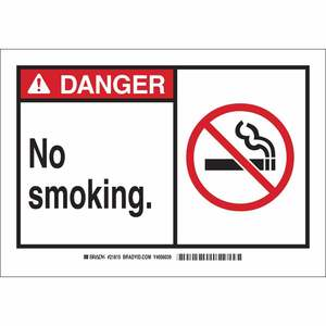 21815 B401 7X10 ANSI BLK,RED/WHT NO SMOK