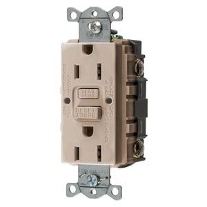 Hubbell-Wiring Kellems GFRST15AL 15A COM SELF TEST GFR ALMOND