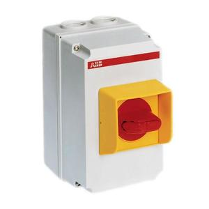 ABB OTPA116A2P1 Enclosure, Yellow, Clear Cover, MS116