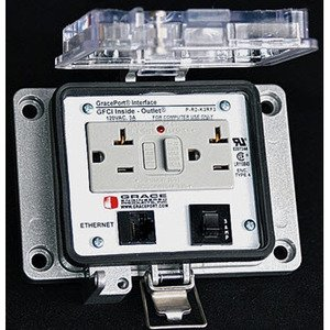 Grace Technologies P-R13-K3RF3 Programming Port, 10', GFCI 3A Circuit Breaker, Nema 12/4