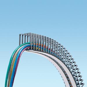 "Panduit FL50X50LG-A Flexible Slotted Wiring Duct, 1.97"" W x 1.97"" H x 19.7"" Long, Gray"