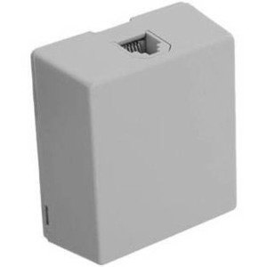 Leviton 40278-W White Telephone Surface Mount Jack 8P8C