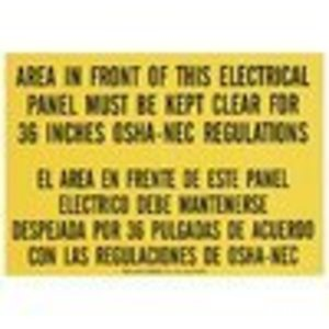 Ideal 44-877 Safety Sign,Ideal,Self-Sticking,Lockout,National Electric Code,Polyester