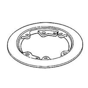 Hubbell-Raco 6235 Carpet Flange 6-1/4 Rnd Brass