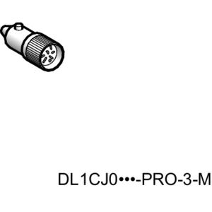 Square D DL1CJUS0064 LED BA9S BASE 6VAC/DC RED
