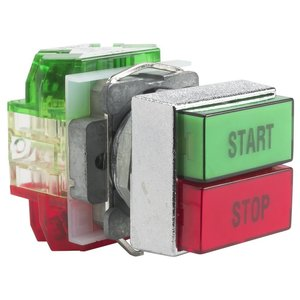 Square D 9001KXRC136 Push Button, Dual, 30mm, Green Top, Red Bottom, Momentary, 1NO/NC