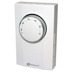 Ouellet Electric Heating OTL222 Mechanical Line Voltage Thermostat, 240V, White, DPST