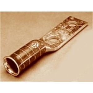 """Penn-Union BBLU-075D-FL Compression Lug, Flanged, 646 MCM, 2-Hole Stud 1/2"""", Copper"""