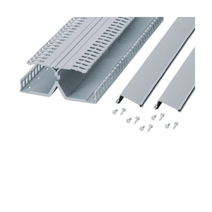 "Panduit DRD22WH6 DIN Rail Wiring Duct, PVC, White, 2"" High, 6' Long, Base/Cover/Fasteners"