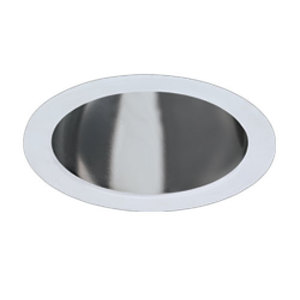 """Hubbell-Prescolite 6CFV Compact Fluorescent Reflector Trim, 6"""", Clear Alzak"""