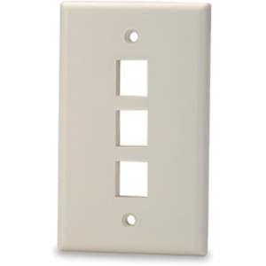 Signamax SKF-3 3-Port Single-Gang Keystone Faceplate, Light Ivory