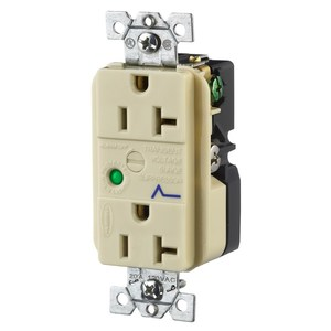 Hubbell-Wiring Kellems HBL5360ISA DUP SPD RCPT, 20A, Limited Quantities Available