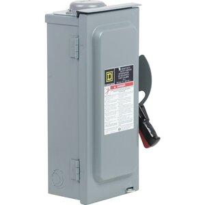 Square D CH361RB Safety Switch, Fusible, 3P, 30A, 600VAC, NEMA 3R, Type J Fuse
