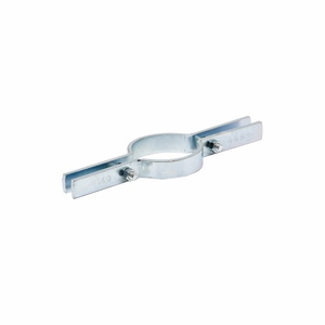 "Eaton B-Line B3373-2-1/2ZN Riser Clamp, Size: 2-1/2"", Material: Steel, Finish: Zinc Plated."