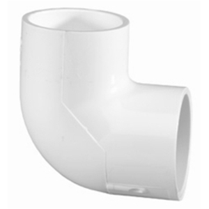Lasco Fittings 406-007 ELBOW PIPE: PVC 90 DEG