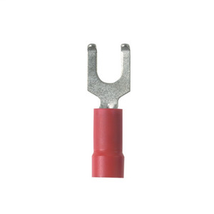Panduit PV18-6FF-MY Flanged Fork Terminal, vinyl insulated,