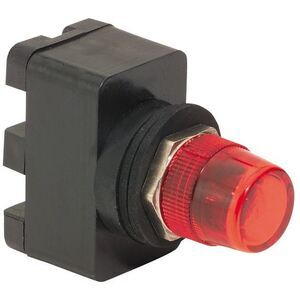 C3 Controls MRL125DLR-MPLLRD Pilot Light, 16mm, 125V AC/DC, LED Only, Red Lens, Red Lamp
